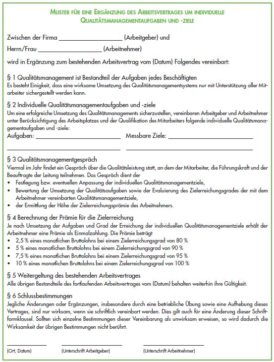 Iso 9001 Qualitatsmanagement Aufgaben Im Arbeitsvertrag