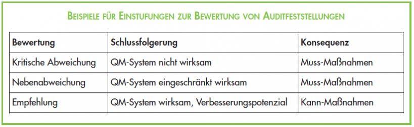 Einstufungen_Bewertung_Auditfeststellungen