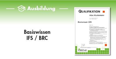 Ausbildung Basiswissen IFS / BRC