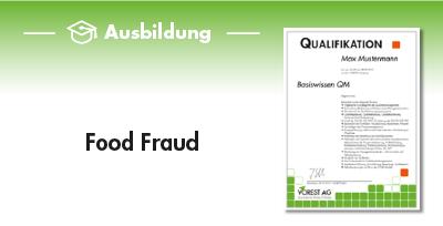 Ausbildung Food Fraud