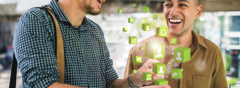 Kommunikation mit dem Kunden-Banner