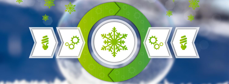 Prozesskälte und Klimakälte - Energieeffizienz Kältemittel-Banner