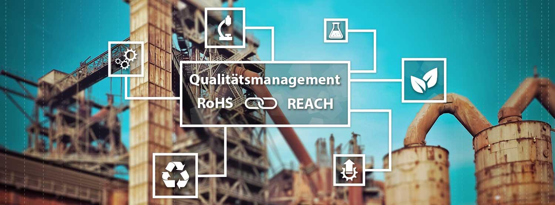 REACh Verordnung und RoHS Richtlinie - Qualitätsmanagement ISO 9001 - Banner