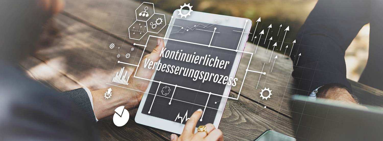 KVP Prozess Qualitätsmanagement ISO 9001 Fortlaufende Verbesserung_Banner